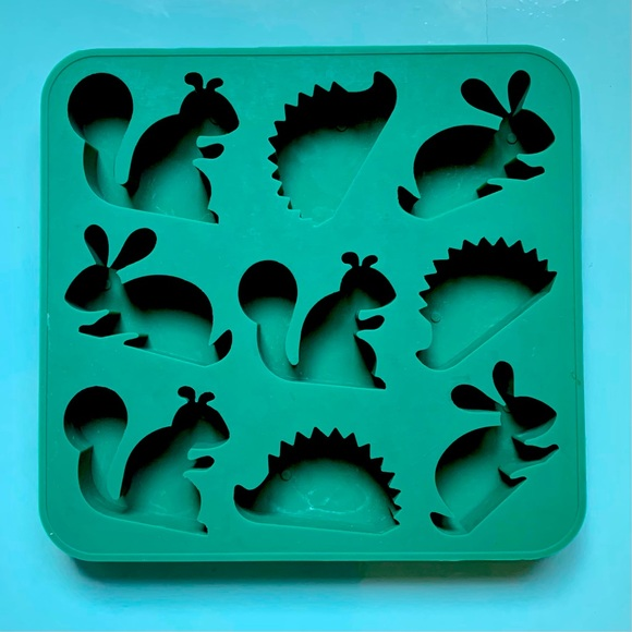 Squirrel, Rabbit & Hedgehog Ice Cube Tray